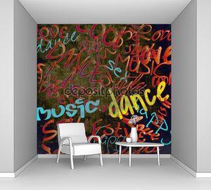 художественный городской растровый фон граффити