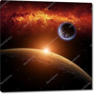 Планета Земля с Марса