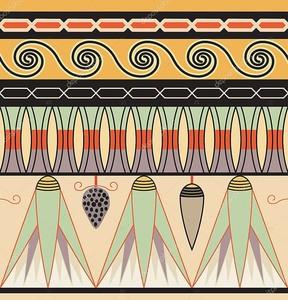 Египетский орнамент с кукурузой