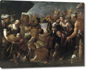 Ассерето Джоакино. Моисей высекает воду из скалы