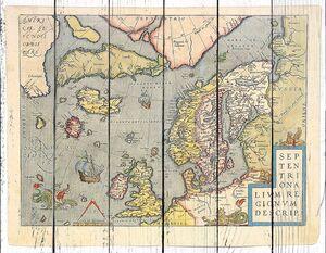 Старая выцветшая карта