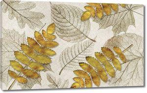 Орнамент из осенних листьев