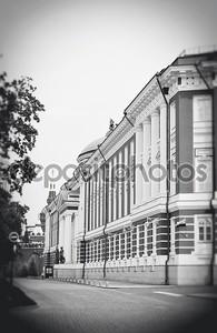 Черно-белый Московский Кремль