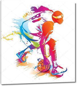 баскетболист. векторная иллюстрация.