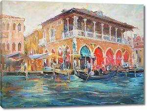 Картина с видом на набережную Венеции
