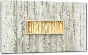 Абстракция из стволов деревьев