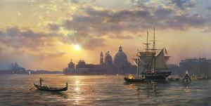 Прекрасная Венеция на закате солнца
