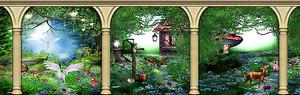 Сказочный лес сквозь арку