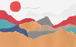 Горы. Имитация детского рисунка