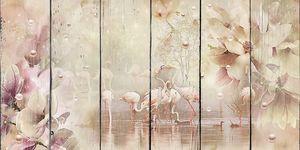 Фламинго на сказочном озере
