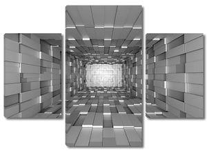 абстрактный мозаичный фон серый
