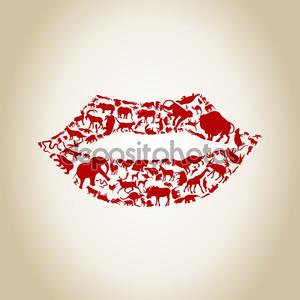губы из животных.