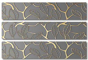 Узор из резных листов