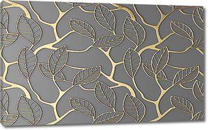 Узор из золотых листов