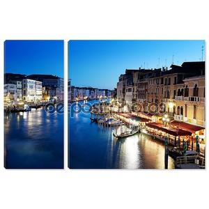 Гранд-канал в Венеции, Италия на закате