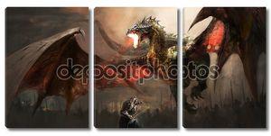 Боевой дракон рыцарь