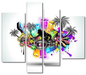 Партия тропической музыки диско флаер