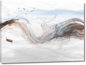 Волны цветными линиями