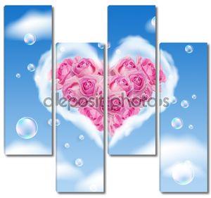 Облачно сердце и розы