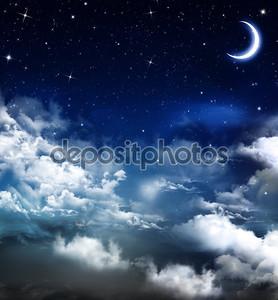 Звездный фон с луной