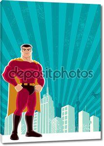 город супергероя