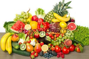 Фрукты и овощи с огорода