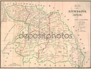 Старая карта Литвы