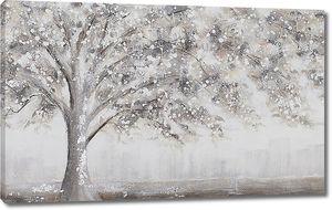 Нарисованное цветущее дерево