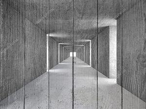 абстрактный тоннель серый камень