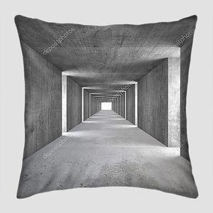 Абстрактный тоннель серого камня