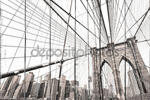 Манхэттенский мост, Нью-Йорк Сити. США