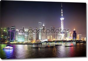 Ночной вид на Шанхай, фарфор