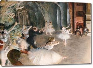 Дега - Репетиция на сцене