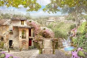 Улица с живописным садом