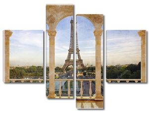 Терраса с видом на Париж