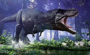 Тиранозавр в лесу