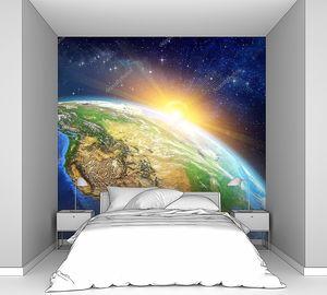 Восход солнца над планетой Земляй