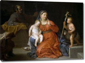 Уасс Мишель Анж. Святое семейство со св Иоанном Крестителем