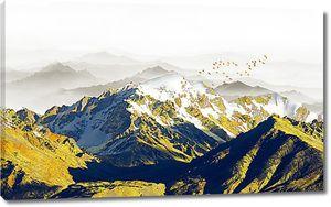 Вершины из желтой породы