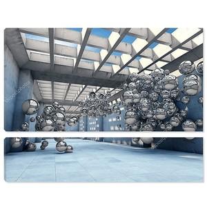 Тоннель с металлическими шарами