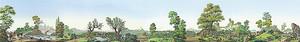 Панорама старинного парка