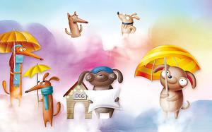 Собачки с зонтиками