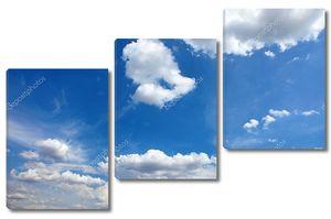 красивый Голубой небо с облаками, как фон или фон.