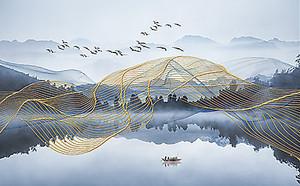 Шлейф над озером