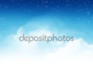 Облачное небо с звездами абстрактный фон
