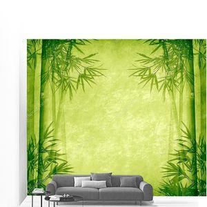 Дизайн китайских бамбуковых деревьев с текстуру бумаги ручной работы