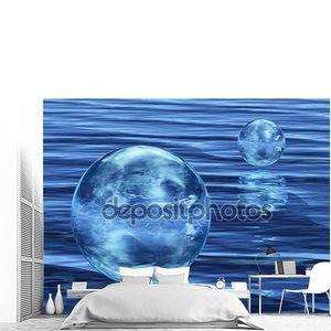Абстрактный пузырь на воде