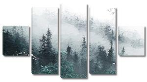 Склоны гор в тумане
