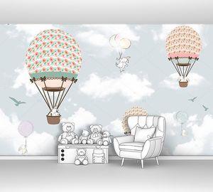 Три воздушных шара с животными