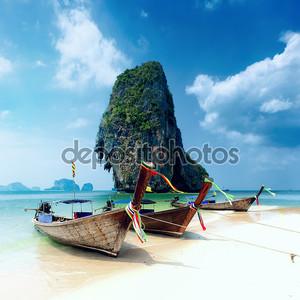 Тропический остров пейзажный фон. Таиланд пляж